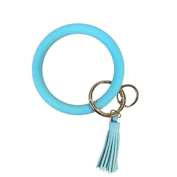 Mint Silicone Bangle Keychain