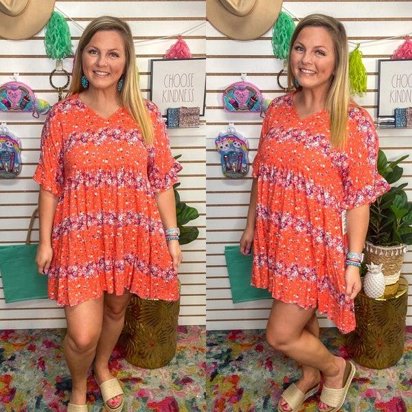 Shiloh Floral Stripe Dress