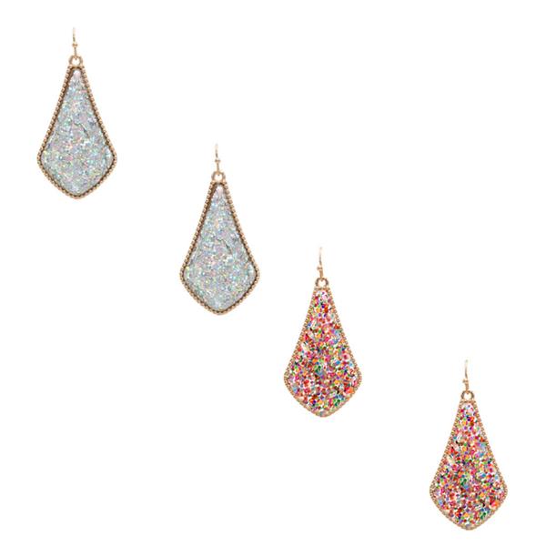 Glitter Designer Inspired Earrings