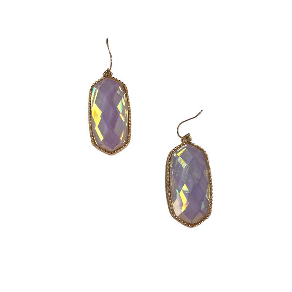 Iridescent Crystal Designer Inspired Earrings