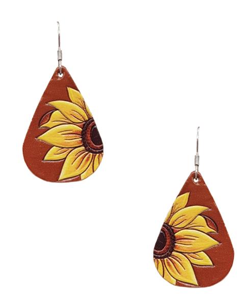 Mini Sunflower Teardrop Earrings