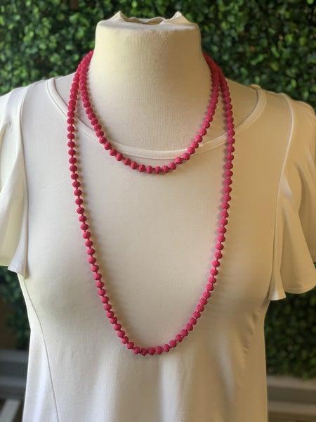 Matte Pink Wrap Necklace