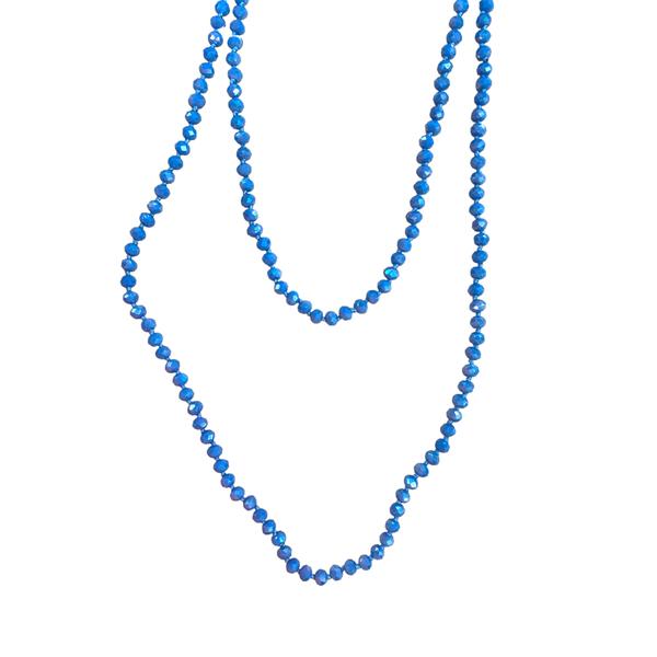 Denim Blue Wrap Necklace