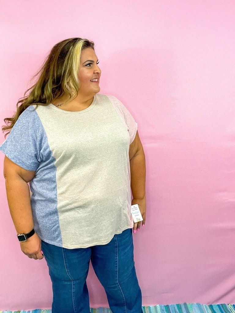 Mariah Knit Color-Block Top