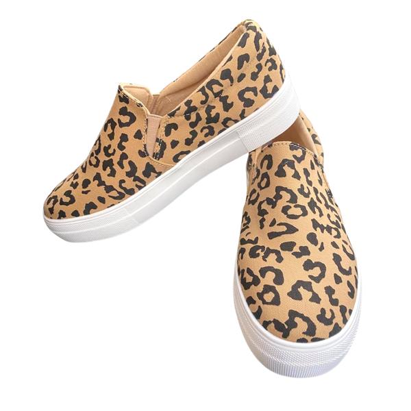 Leopard Slide-On Sneakers