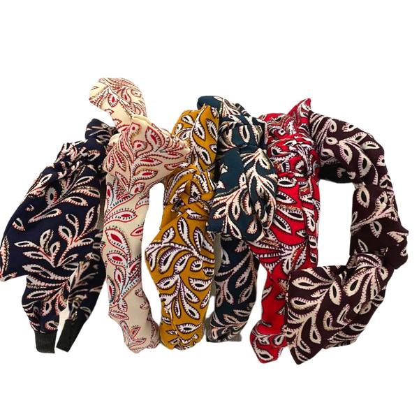 Leaf Print Ribbon Headband