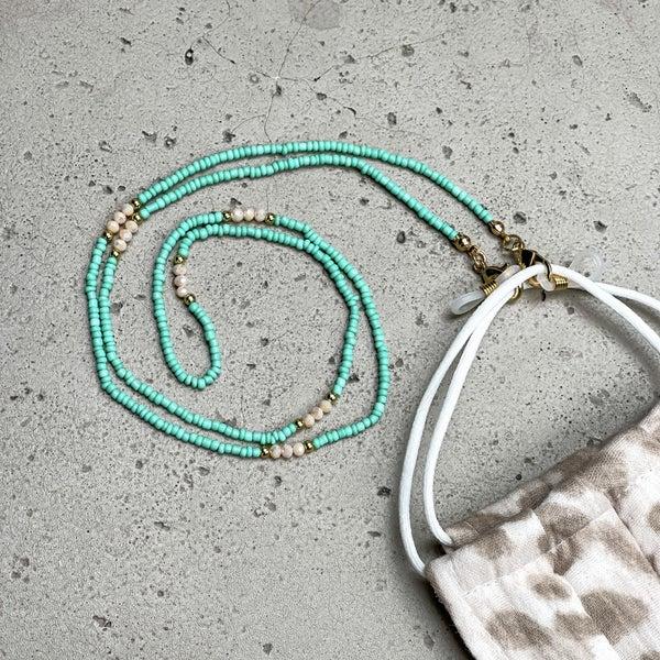 Mint Beaded Mask Chain