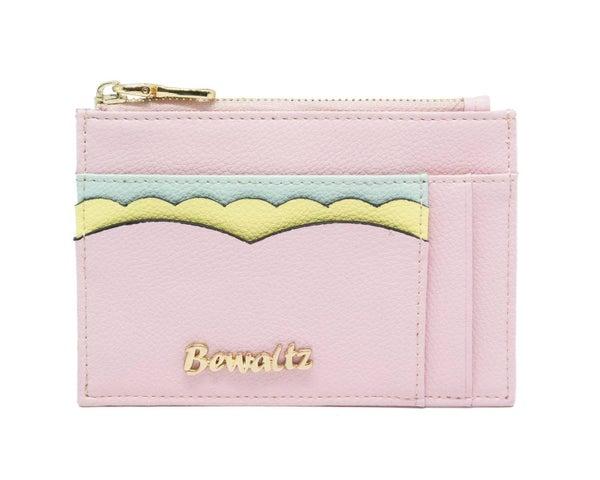 Pink Ella Scallop Card Holder