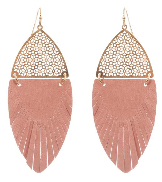 Filigree Feather Earrings