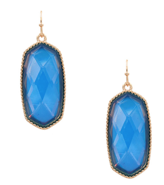 Iridescent Aqua Designer Inspired Earrings