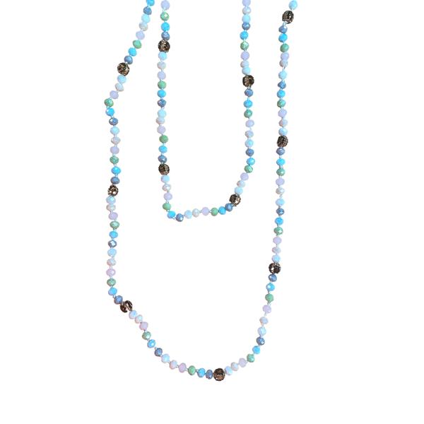 Cotton Candy Leopard Wrap Necklace