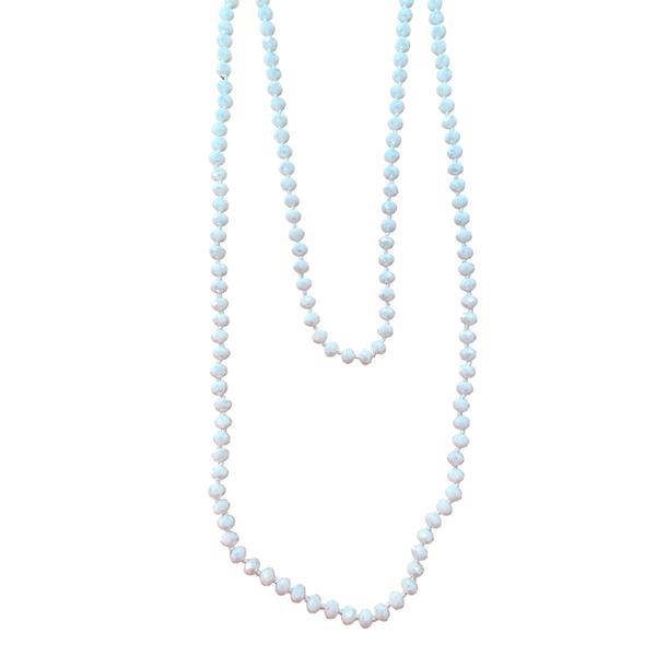 White Iridescent Wrap Necklace