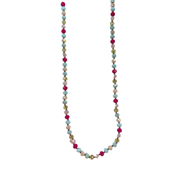 Multi Crystal Beaded Facial Covering Chain