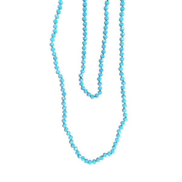 Mint Beaded Wrap Necklace