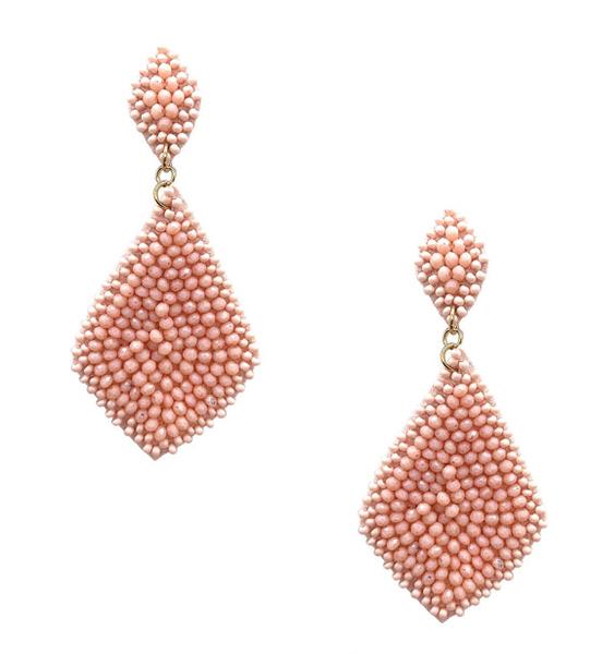 Amy Blush Beaded Earrings