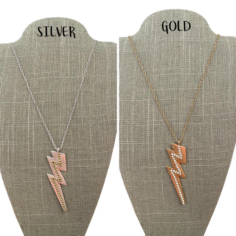 Crystal Lightning Bolt Necklace