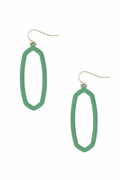 Mint Cut-Out Designer Inspired Earrings