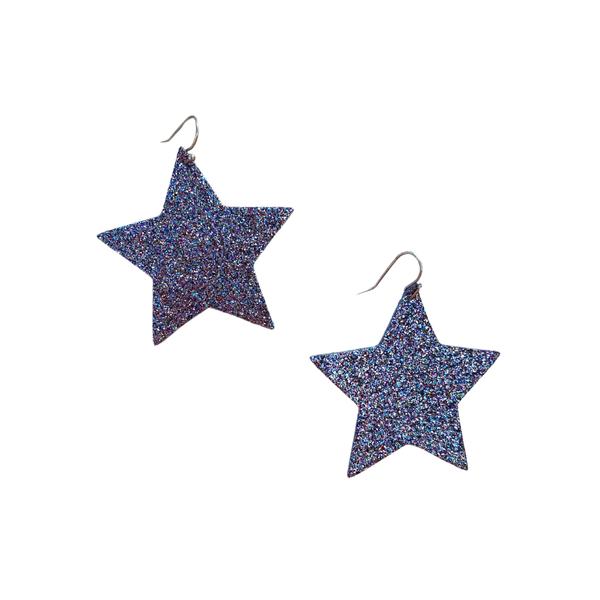 Multi Glitter Star Earrings