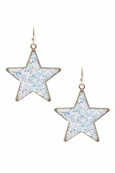 Sally Glitter Star Earrings