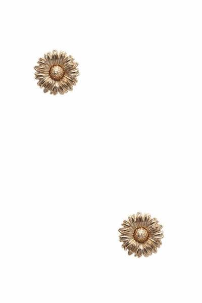 Gold Sunflower Studs