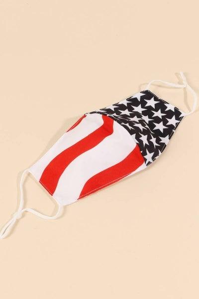 American Flag Facial Covering