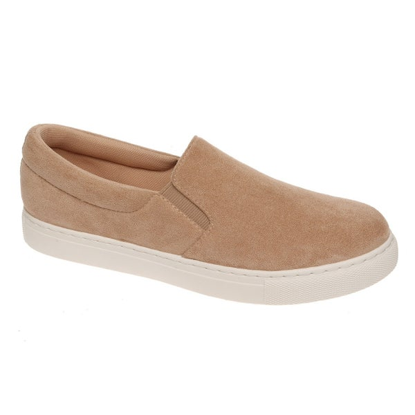 Taupe Tara Slide-On Sneakers