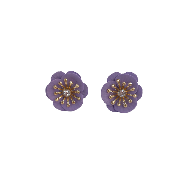 Lilac Flower Studs