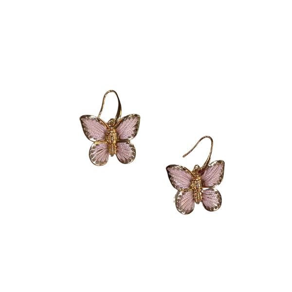 Blush Threaded Butterfly Earrings