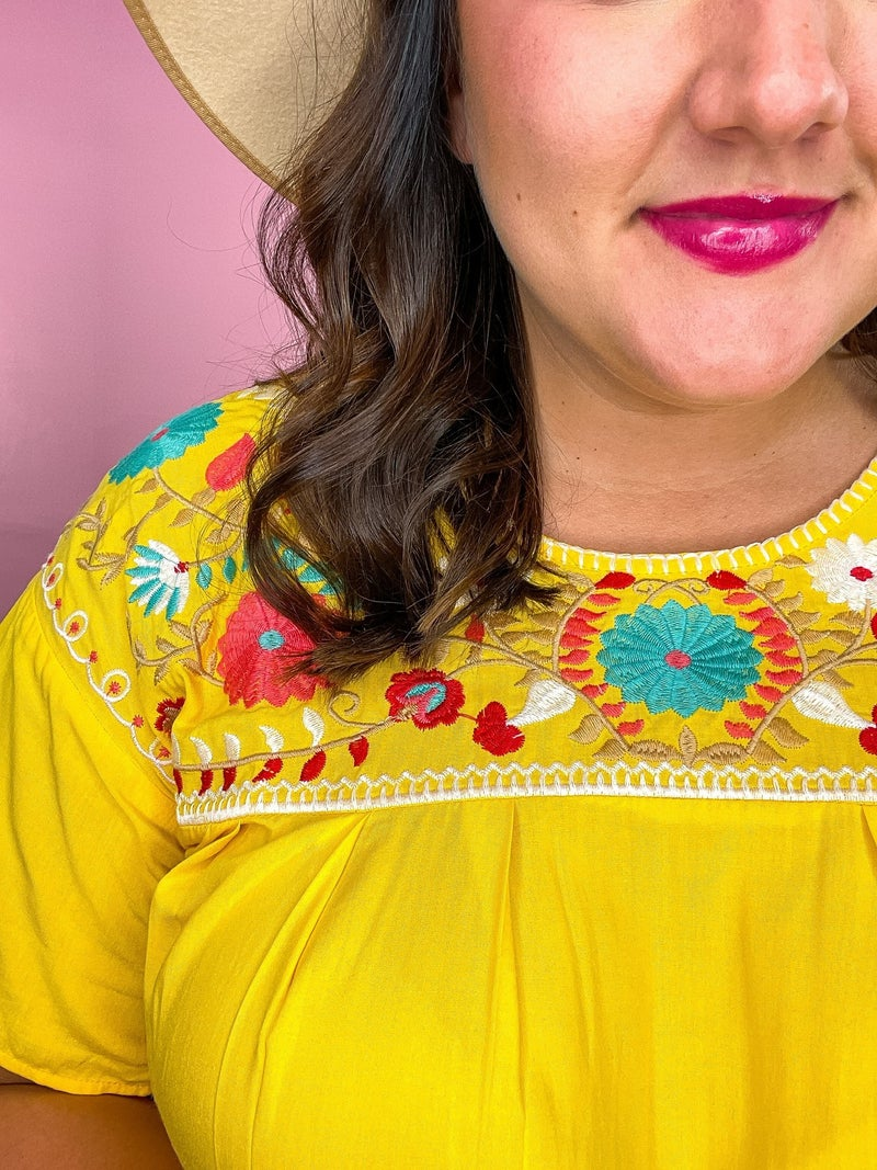 Sandy Embroidered Top