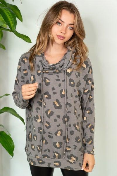 PRE-ORDER DOD Grey Leopard Hoodie