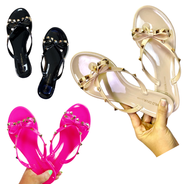Polly Jelly Studded Sandals