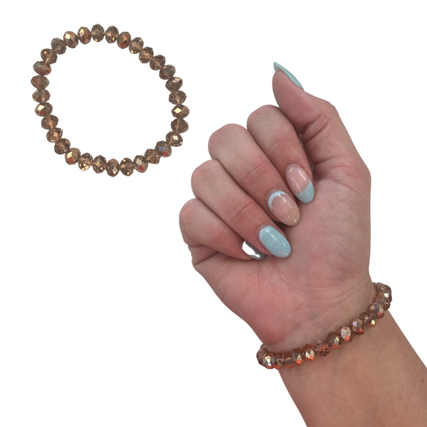 Rose Gold Crystal Stretch Bracelet