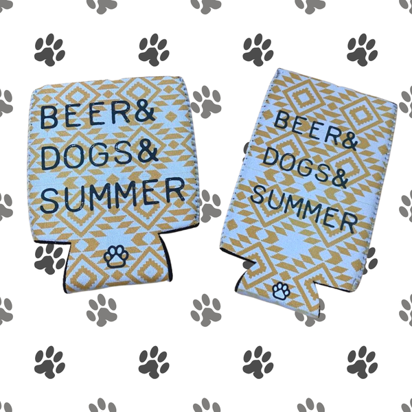 Beers, Dogs, Summer Can Cooler