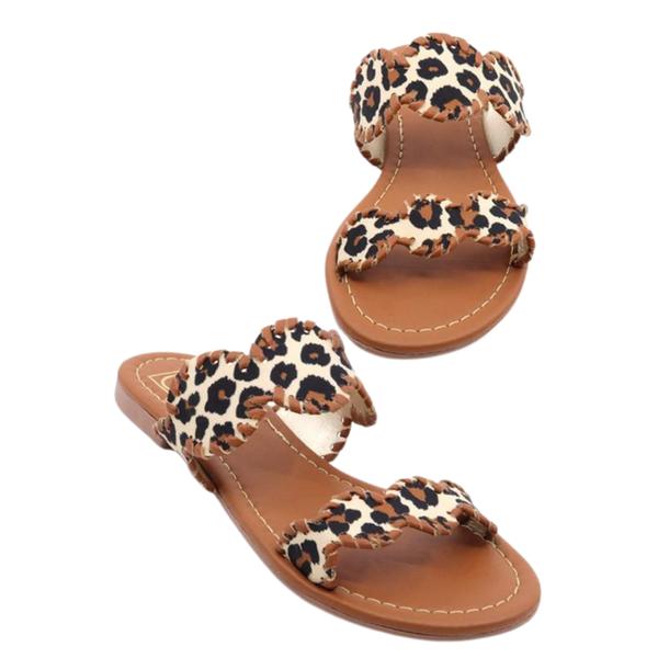 Leopard Clara Sandals