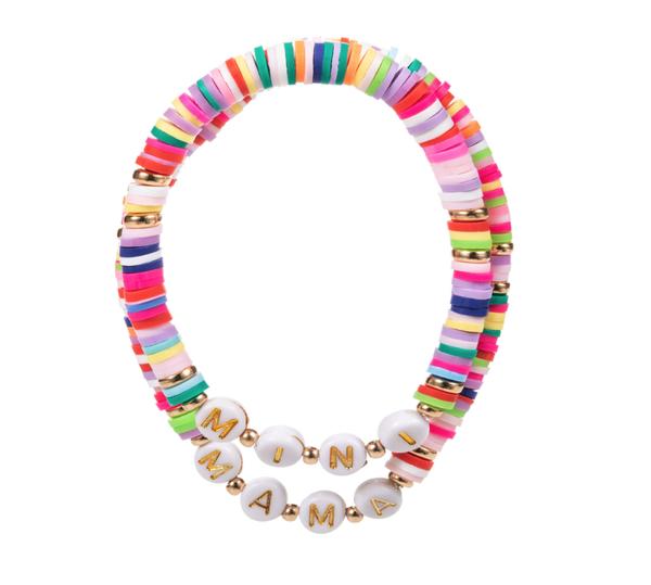 Neon Mama & Mini Bracelet Set
