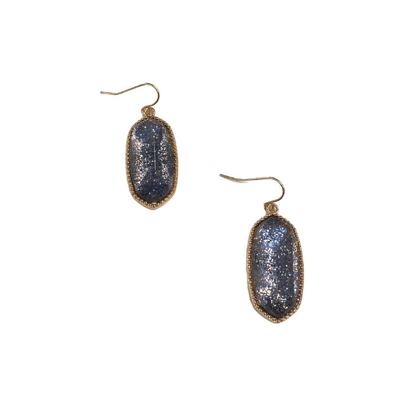 Charcoal Glitter Designer Inspired Earrings