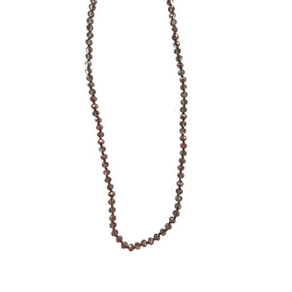 Rose Gold Crystal Beaded Facial Covering Chain
