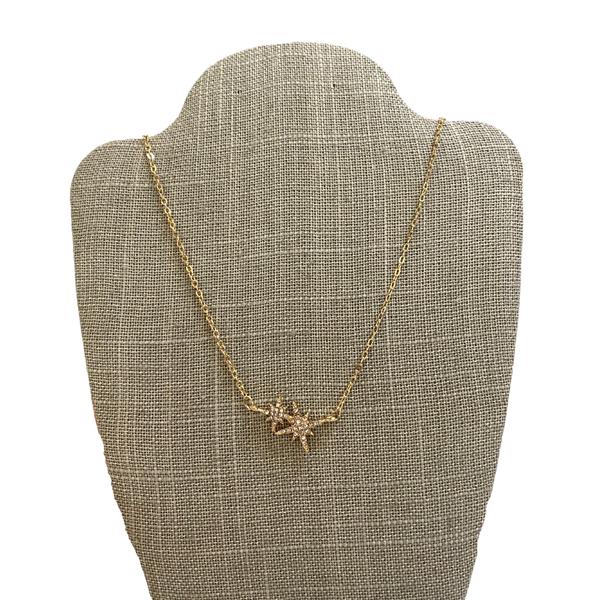 Gold Starlight Pendant Necklace