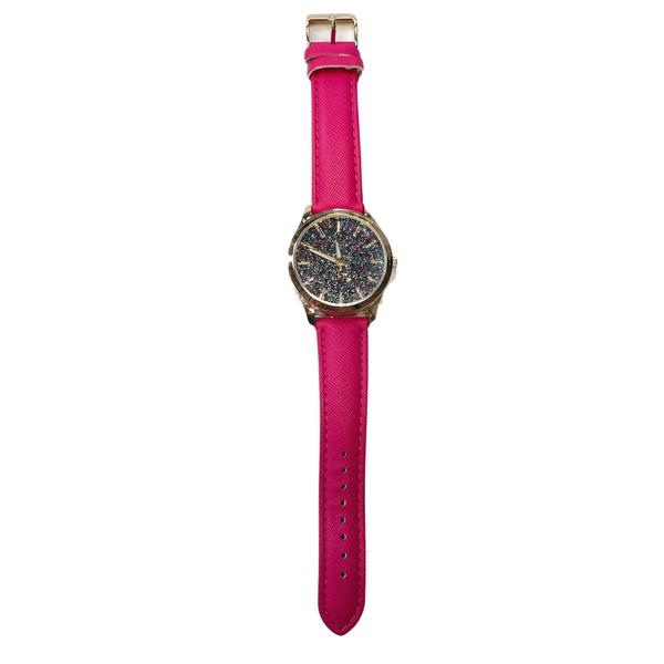 Hot Pink Multi Glitter Watch