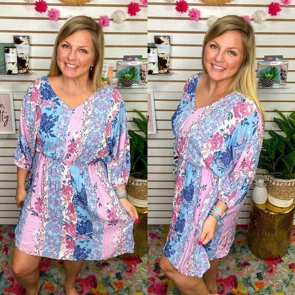 Addison Floral Colorblock Dress