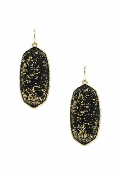 Black Foil Designer Inspired Earrings