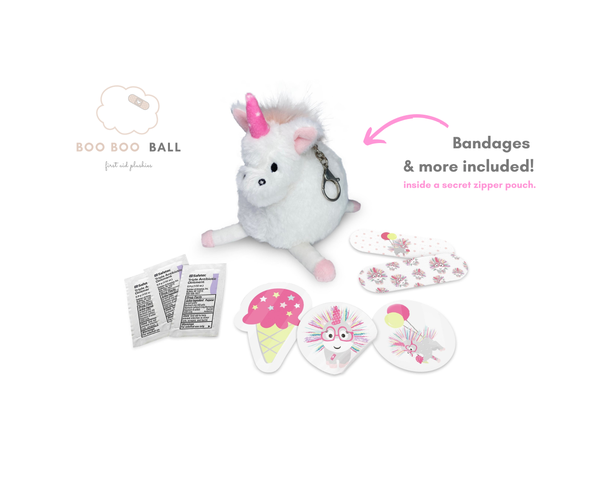 Lily Unicorn Boo Boo Ball Keychain