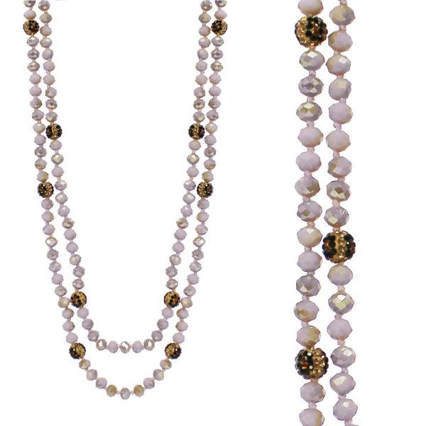 Blush Leopard Wrap Necklace