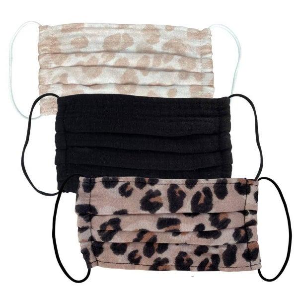 Leopard Kitsch Facial Covering Set