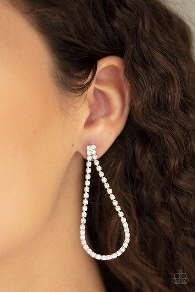 Paparazzi Diamond Drops - White