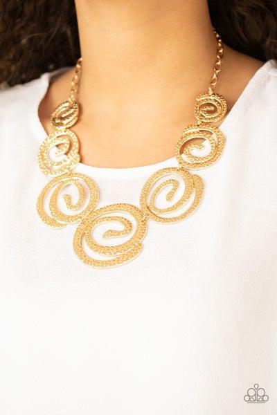 Paparazzi Statement Swirl - Gold