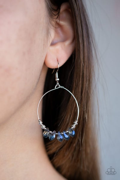 Paparazzi Holographic Hoops - Blue