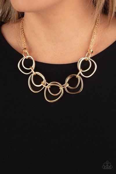 Paparazzi Asymmetrical Adornment - Gold