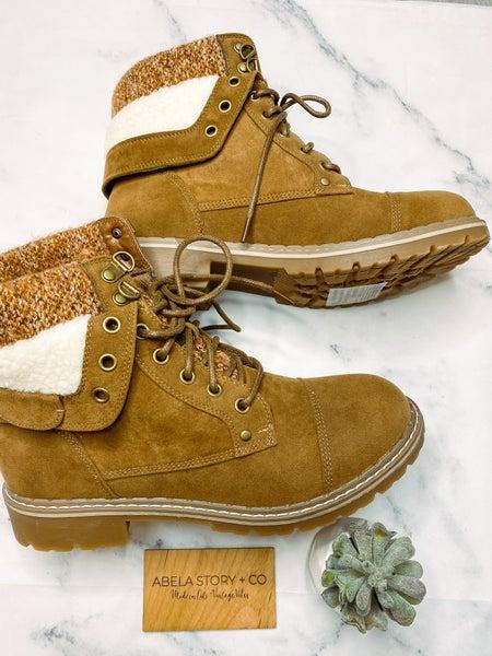 Walk into Winter Boots- Tan