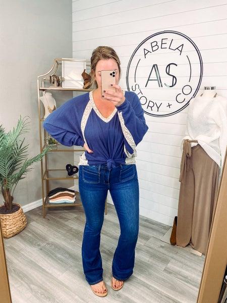 Flare Necessities Judy Blue Patch Pocket Flare Jeans (Plus + Reg) *Final Sale*